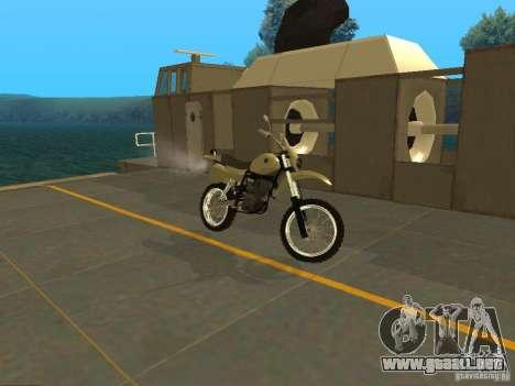 Motocicleta Čezet para GTA San Andreas left