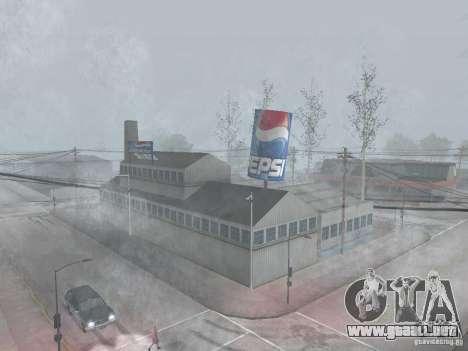 Máquinas expendedoras de Pepsi y planta para GTA San Andreas segunda pantalla