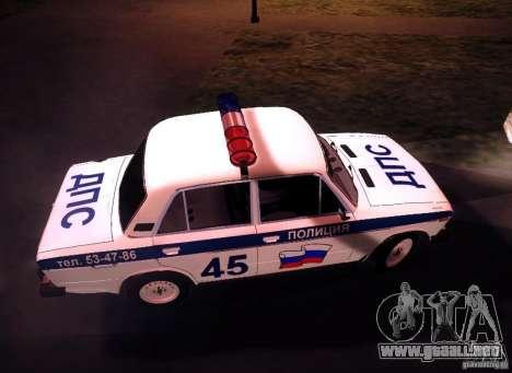 2106 VAZ policía v 2.0 para visión interna GTA San Andreas