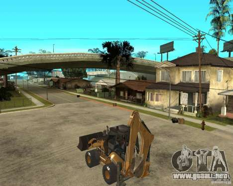 Lastik Tekerli Dozer para GTA San Andreas left