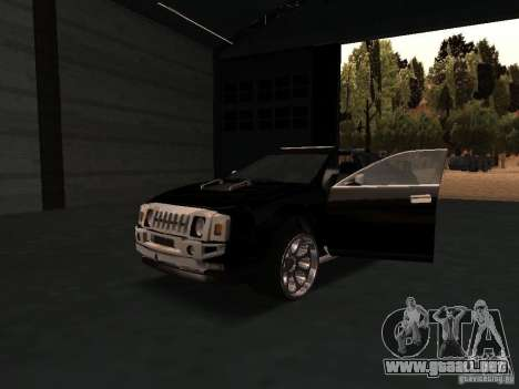 Hummer H0 para visión interna GTA San Andreas