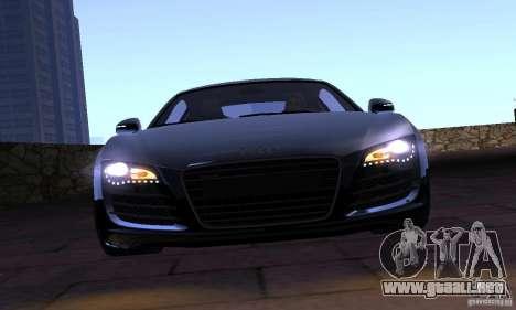 Audi R8 4.2 FSI para GTA San Andreas vista hacia atrás