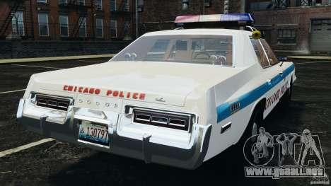 Dodge Monaco 1974 Police v1.0 [ELS] para GTA 4 Vista posterior izquierda