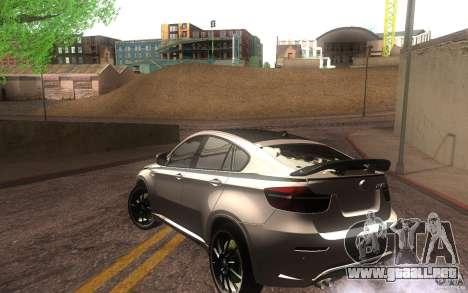 Bmw X6 M Lumma Tuning para GTA San Andreas vista posterior izquierda