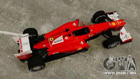 Ferrari F2012 para GTA 4 visión correcta