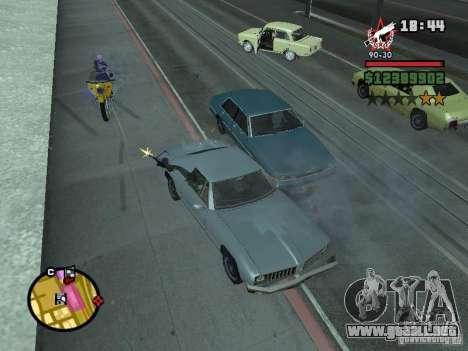 Un guardia de seguridad para el CJ con miniganom para GTA San Andreas tercera pantalla
