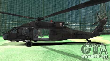 Sikorsky UH-60 Black Hawk para GTA 4 Vista posterior izquierda