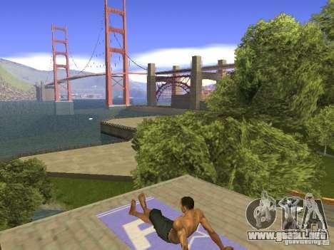 Estera del resto para GTA San Andreas quinta pantalla