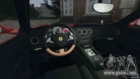 Ferrari 575M Superamerica [EPM] para GTA 4 vista hacia atrás