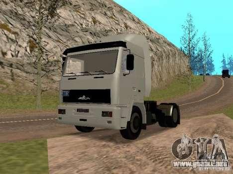 MAZ 5440 para la visión correcta GTA San Andreas