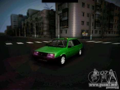 Taxi Vaz 2109 corto-kryloe para GTA San Andreas