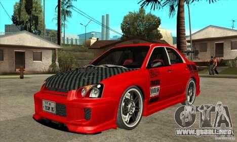 Subaru Impreza 2005 Tuned para GTA San Andreas