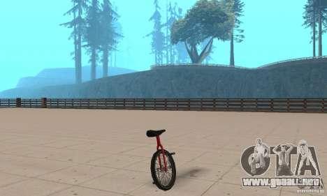 Unicycle para GTA San Andreas left
