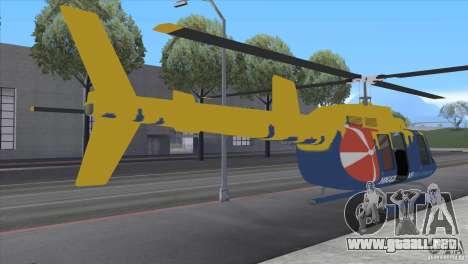 GTA IV News Maverick para GTA San Andreas vista posterior izquierda