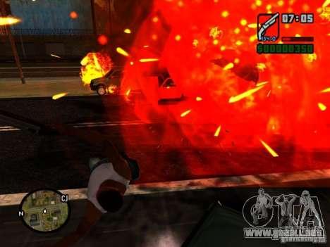 Basura de la explosión para GTA San Andreas segunda pantalla