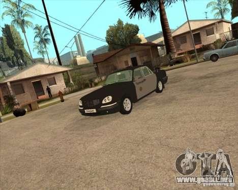 Días laborables de GAZ Volga 3110 policía para GTA San Andreas