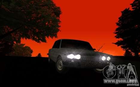 VAZ 2106 Tyumen para GTA San Andreas vista hacia atrás
