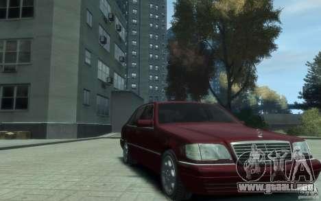 Mercedes-Benz S600 W140 para GTA 4 vista hacia atrás