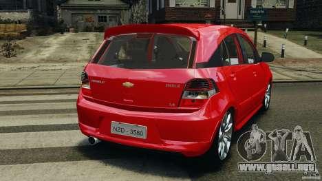 Chevrolet Agile para GTA 4 Vista posterior izquierda