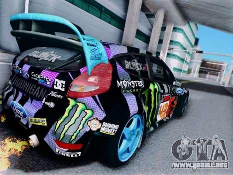 Ford Fiesta Gymkhana 6 para la visión correcta GTA San Andreas