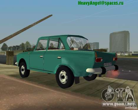 Moskvitch IZH 412 para GTA Vice City left