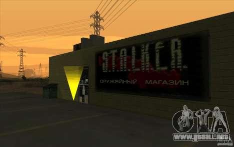 Tienda de armas e. k. S. T. A. L. R para GTA San Andreas segunda pantalla