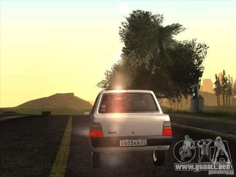 VAZ 1111 Oka sedán para visión interna GTA San Andreas
