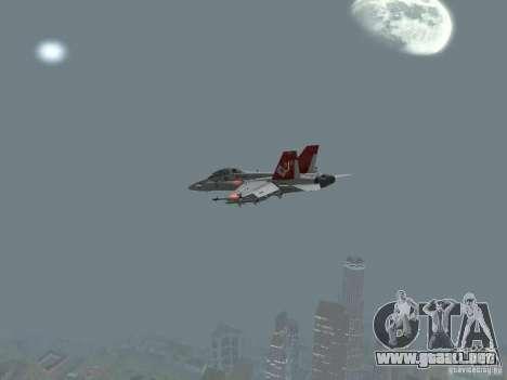 FA-18D Hornet para la visión correcta GTA San Andreas