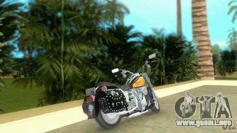 Harley Davidson FLSTF (Fat Boy) para GTA Vice City vista lateral izquierdo