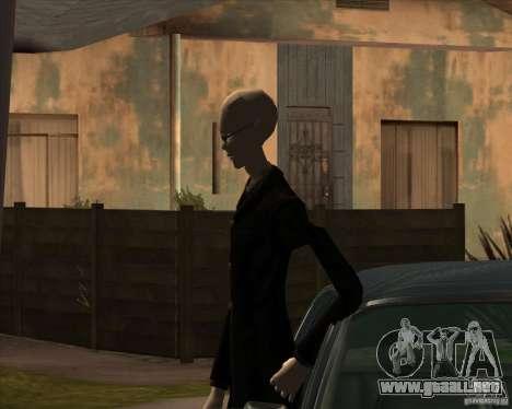 Delgado en gafas oscuras para GTA San Andreas sucesivamente de pantalla