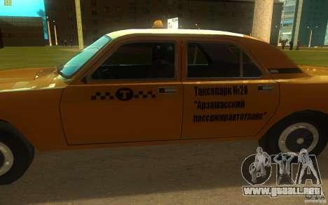 Taxi 3102 Volga GAZ para GTA San Andreas vista posterior izquierda