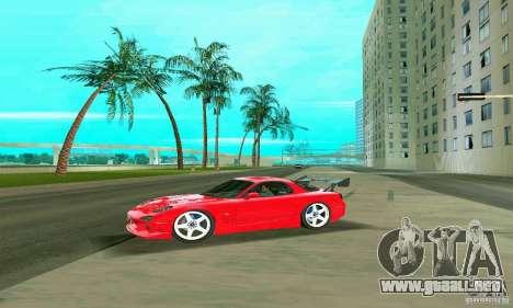 Mazda RX7 Charge-Speed para GTA Vice City vista desde abajo