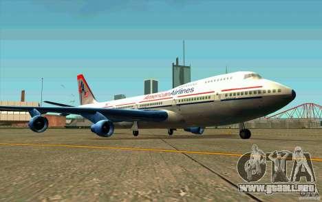 B-747 American Airlines Skin para GTA San Andreas left