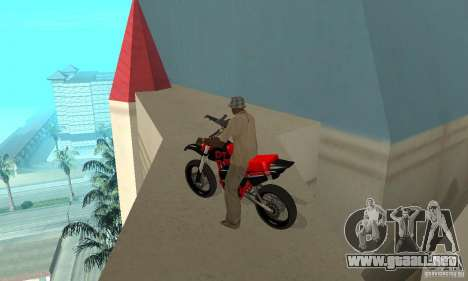 DT 180 Motard para GTA San Andreas vista hacia atrás
