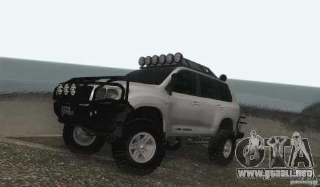 Toyota Land Cruiser 200 Off Road v1.0 para GTA San Andreas left