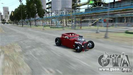 Smith 34 Hot-Rod Restyling para GTA 4 Vista posterior izquierda