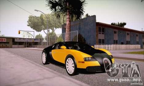 Bugatti Veyron 16.4 EB 2006 para GTA San Andreas vista hacia atrás