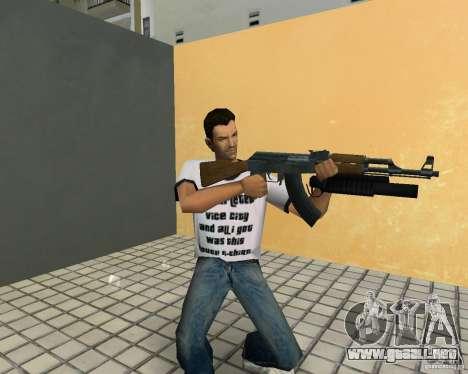 AK-47 con un grenade launcher М203 para GTA Vice City