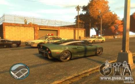 Spyker C8 Aileron para GTA 4 vista hacia atrás