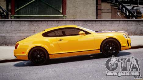 Bentley Continental SS 2010 ASI Gold [EPM] para GTA 4 left