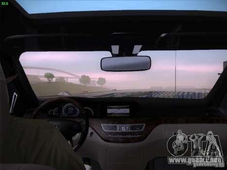 Mercedes-Benz S65 AMG V2.0 para la vista superior GTA San Andreas