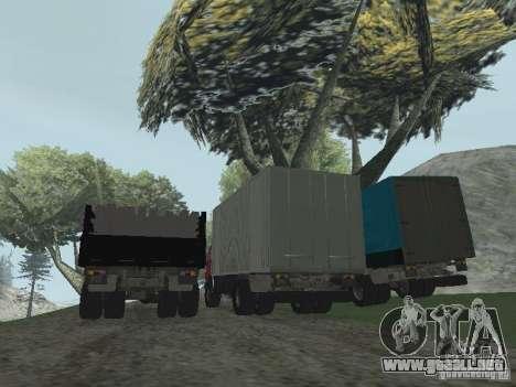 KAMAZ 5325 para GTA San Andreas vista hacia atrás
