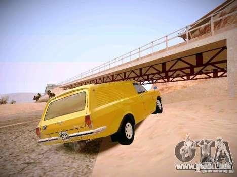 Volga GAZ-24 02 Van para GTA San Andreas vista posterior izquierda