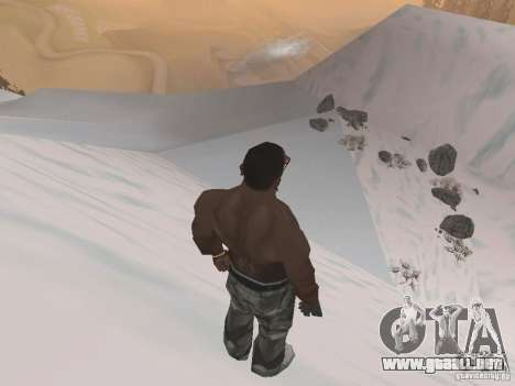 Invierno para GTA San Andreas novena de pantalla