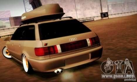 Audi RS2 Avant Thug para GTA San Andreas vista hacia atrás