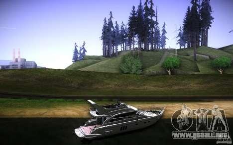 Yach by Tatui@tret para GTA San Andreas vista hacia atrás