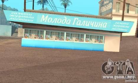 Kiosk Mod para GTA San Andreas segunda pantalla