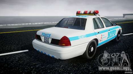 Ford Crown Victoria 2003 v.2 Police para GTA 4 vista lateral