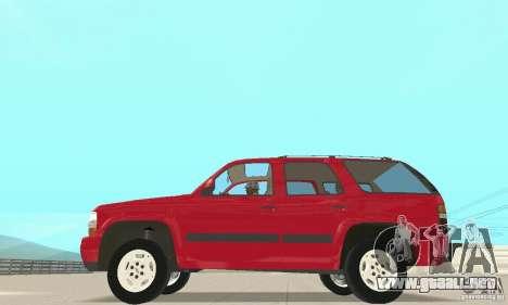 Chevrolet Tahoe 1992 para GTA San Andreas left