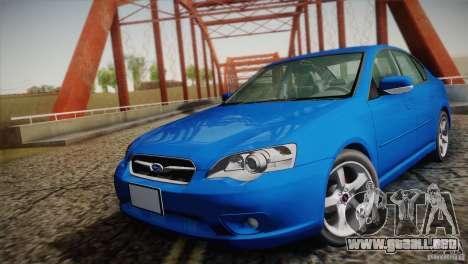 Subaru Legacy 2004 v1.0 para GTA San Andreas vista hacia atrás